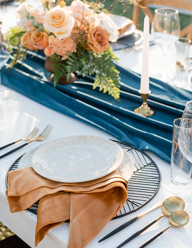 Closeup of Wedding Place Setting