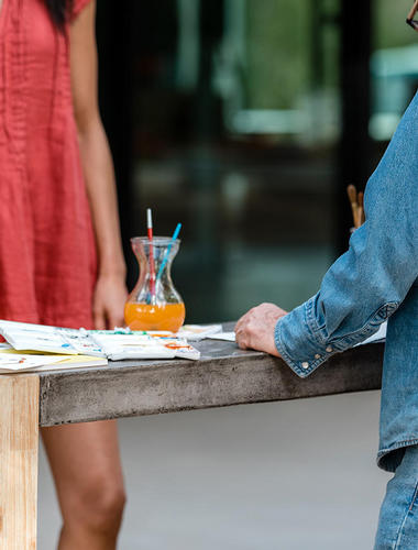 Meeting the artist